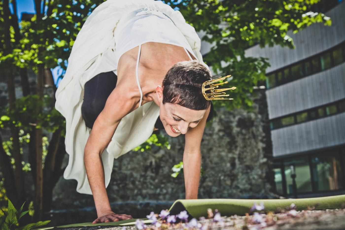 Die Erbsenprinzessin auf der Yogamatte