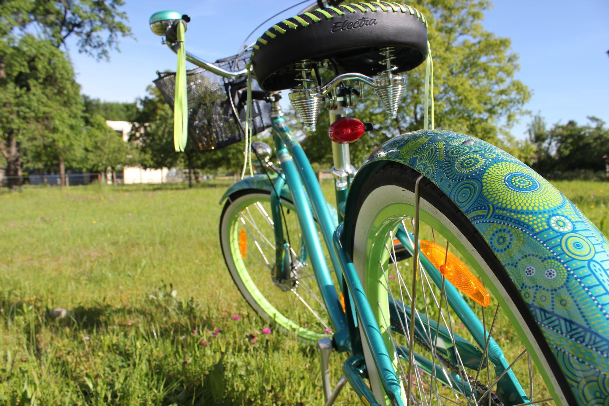 Fahrrad fahren mit den Gesunden Erbsen