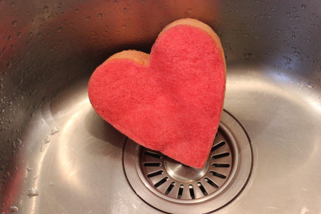 Gesunde Erbsen Putzen mit Herz