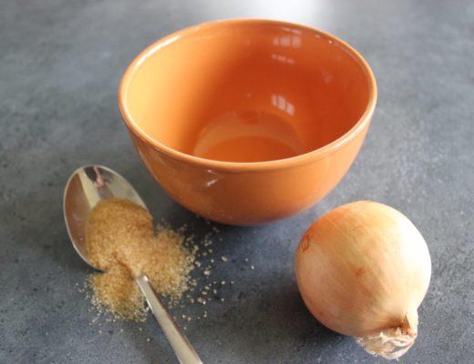 Husten? Zwiebel und Rohrzucker für den selbst gemachten Zwiebel-Hustensaft