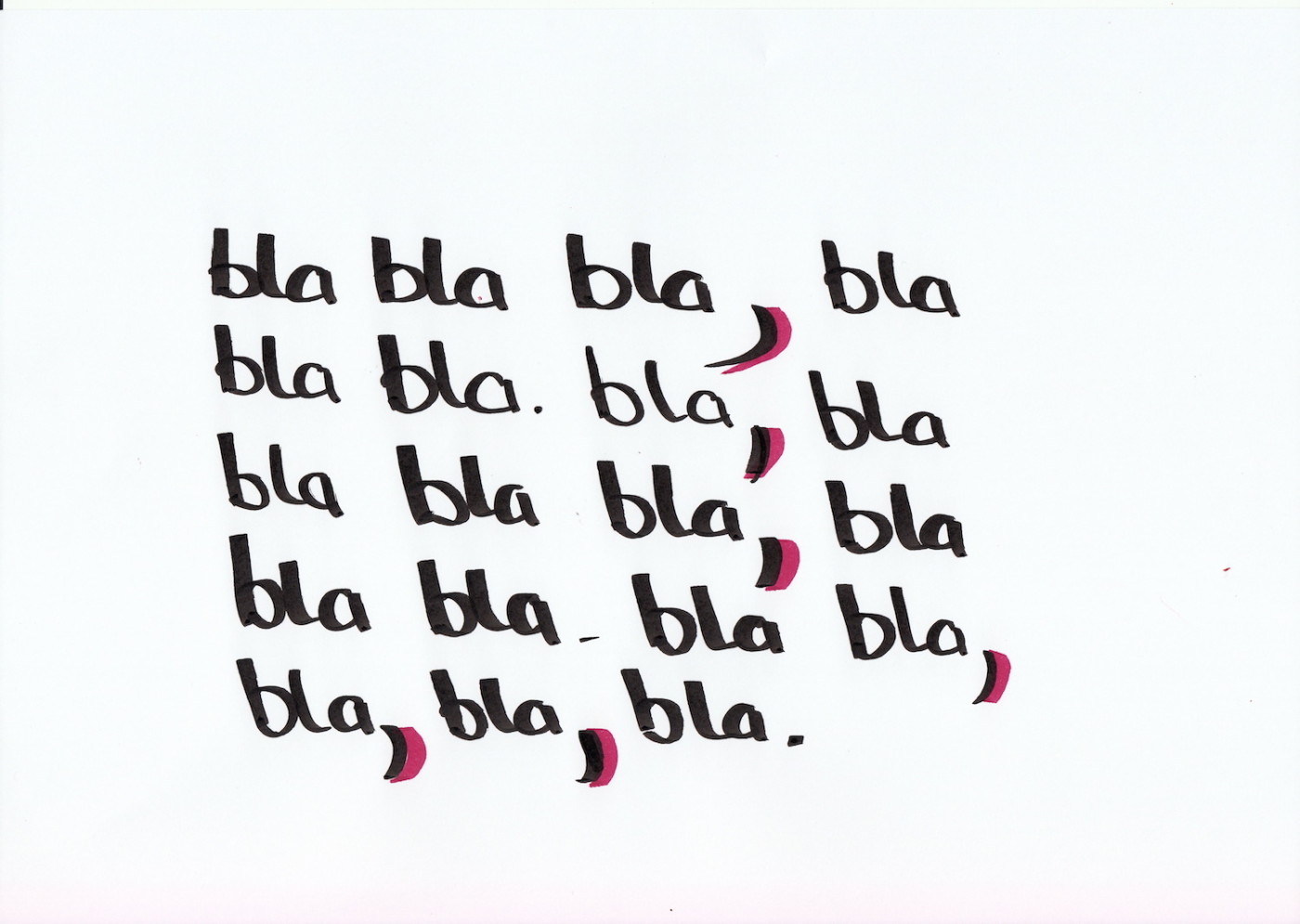 bla Komma bla
