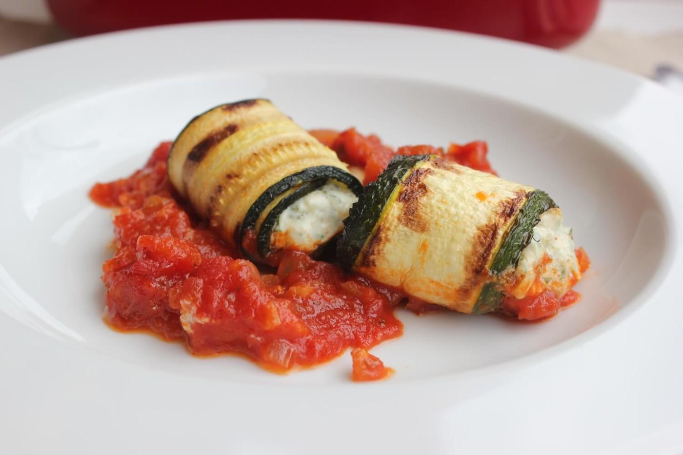 Zucchini-Rollatini-Tomatine