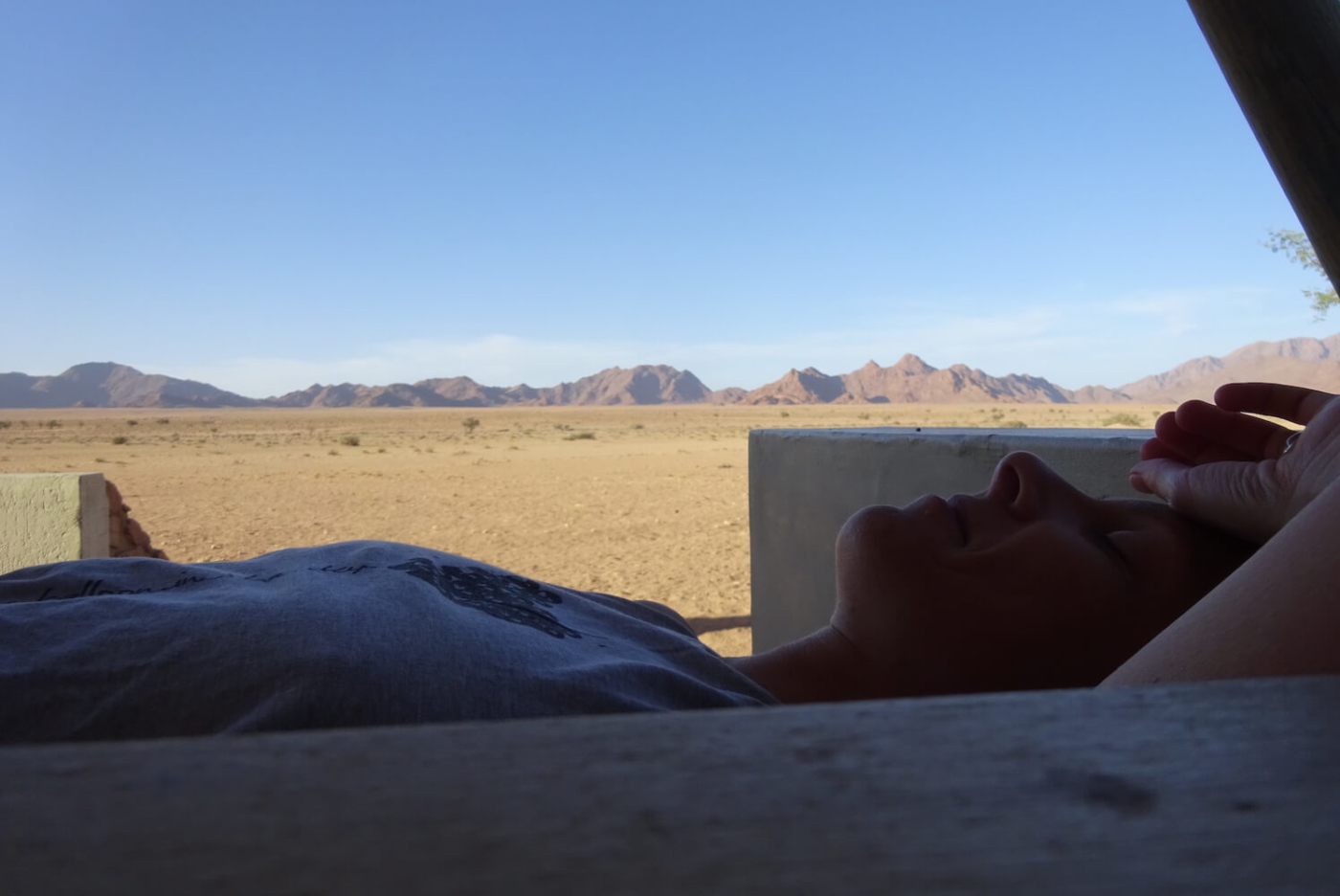Seele im Urlaub in Namibia